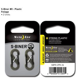 Karabińczyk Nite Ize - Plastic S-Biner Size 0 - 2 Pack - Foliage