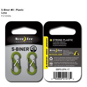 Karabińczyk Nite Ize - Plastic S-Biner Size 0 - 2 Pack - Lime