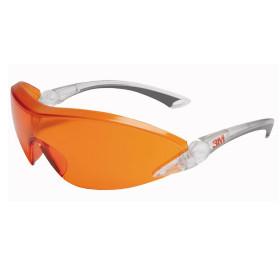 Okulary Ochronne 3M Model 2846 Pomarańczowo-Czerwone