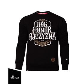 Bluza Patriotyczna Surge Polonia - Bóg, Honor, Ojczyzna - Czarna