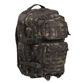 Plecak Mil-Tec Large Assault Pack Laser Cut - Multitarn Black
